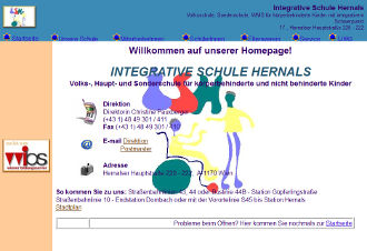 Unsere alte Website - Screenshot
